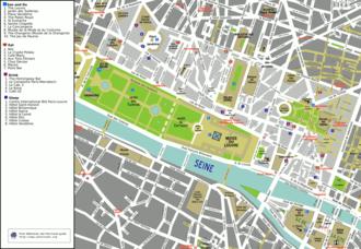 1st arrondissement of Paris - Map of the 1st arrondissement.