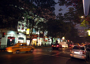 Park Street, Kolkata - Night scene in Park Street