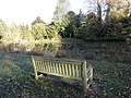 Park seat and water feature - geograph.org.uk - 1571890.jpg