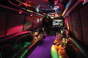 Interior of a party bus