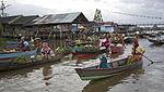 Pasar Terapung Lok Baintan jembatan.jpg