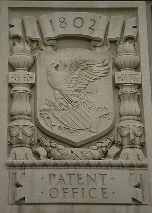 United States Patent and Trademark Office -  Relief representing the Patent Office at the Herbert C. Hoover Building.