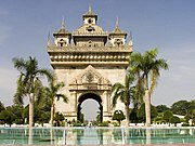 Patuxay, was built in Vientiane in the 1960s to celebrate the independence struggle.