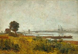 Paul Baum (artist) - Image: Paul Baum Flusslandschaft in Mecklenburg c 1895