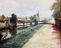 Paul Gosselin The river Leie in Menen Impressionism.jpg