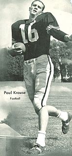 Paul Krause American football safety, all time interception leader
