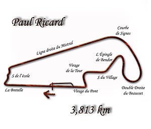 French Grand Prix - The Paul Ricard short circuit, used from 1986-1990