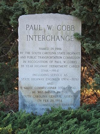 Interstate 77 in South Carolina - Paul W. Cobb Interchange at I-20/I-77