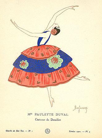 Paulette Duval - 1920 illustration of Paulette Duval