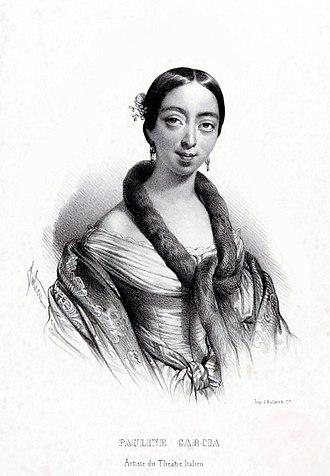 Pauline Viardot - Lithograph of Pauline Garcia by Bernard-Romain Julien