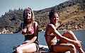 Pauline and Georgie, Bay of Many Coves, Marlborough, New Zealand, 1970.jpg