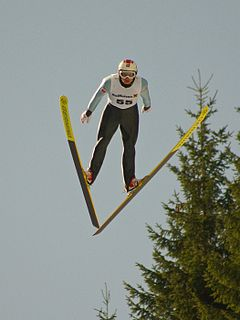 Pavel Churavý Czech Nordic combined skier and Olympic athlete