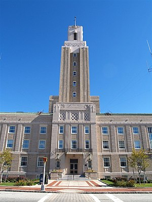 Pawtucket City Hall - City Hall main entrance in 2007