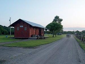 Paxico, Kansas - Old railroad depot in Paxico (2009)
