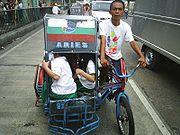 Fahrradrikscha in Tondo