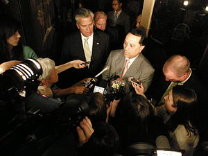 Pedro Espada Jr. - Espada speaking with Dean Skelos during the Senate leadership crisis.