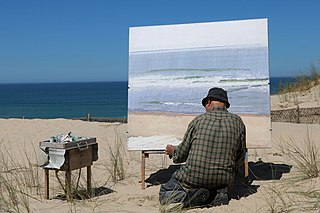 <i>En plein air</i> Act of painting outdoors