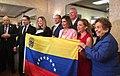Pelosi and US Reps at a Venezuela meeting.jpg