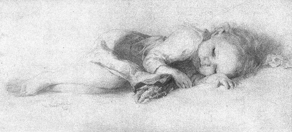 File:Pencil Drawing of Sleeping Child, Vanderpoel.jpg ...