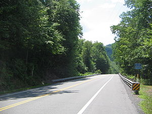 Pennsylvania Route 120 - PA 120 in Clinton County, at the western end of Bucktail State Park Natural Area