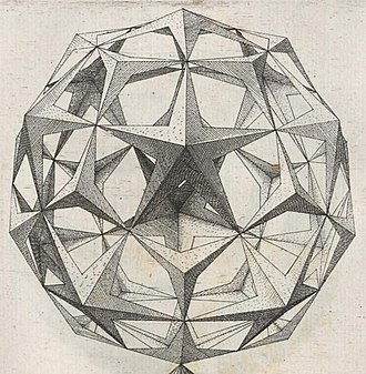 Deltoidal hexecontahedron - This figure from Perspectiva Corporum Regularium (1568) by Wenzel Jamnitzer can be seen as a deltoidal hexecontahedron.