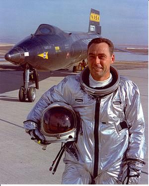 "William J. Knight - Maj. William ""Pete"" Knight with the X-15"