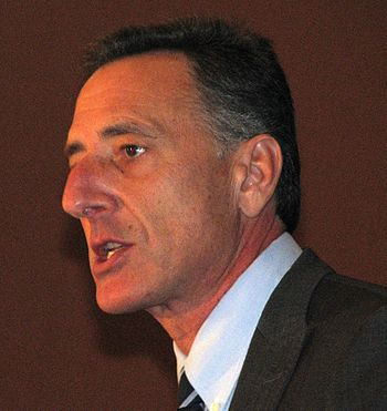English: Peter Shumlin, making his acceptance ...