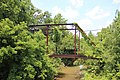 Pettit Creek bridge ruins, June 2018.jpg