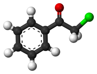 Phenacyl chloride - Image: Phenacyl chloride 3D balls