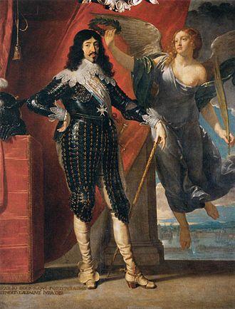 Jean Hoeufft - Louis XIII Crowned by Victory (Siege of La Rochelle, 1628), Philippe de Champaigne, Musée du Louvre