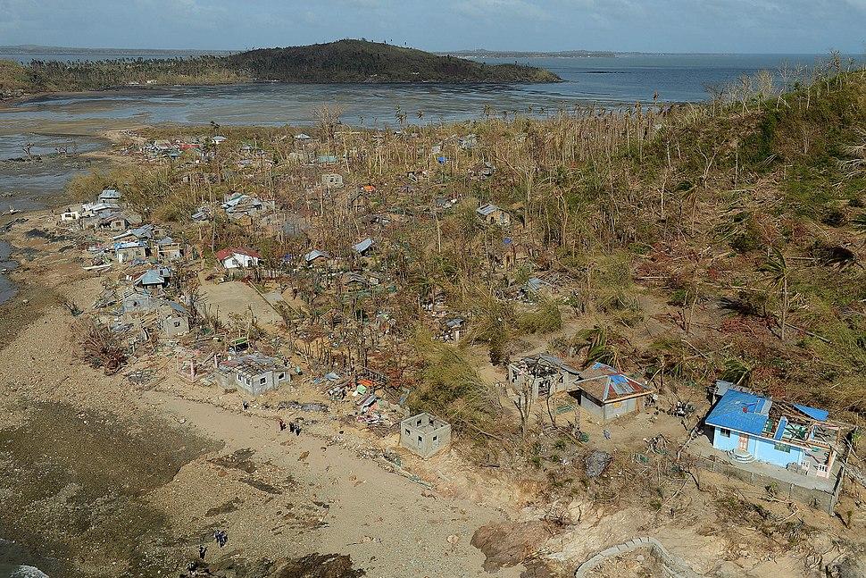 Philippine island of Binuluanguan Following Typhoon Haiyan MOD 45156472