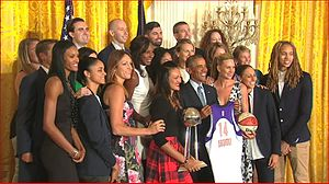 Phoenix Mercury - Phoenix Mercury at the White House to honor 2014 Championship