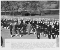Photograph of President Truman inspecting the Brigade of Midshipmen during his visit to the U.S. Naval Academy. - NARA - 198657.tif