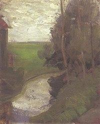 Piet Mondriaan - Fragment of an irrigation ditch - A236 - Piet Mondrian, catalogue raisonné.jpg