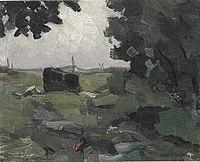 Piet Mondriaan - Free impression of a polder landscape - A232 - Piet Mondrian, catalogue raisonné.jpg