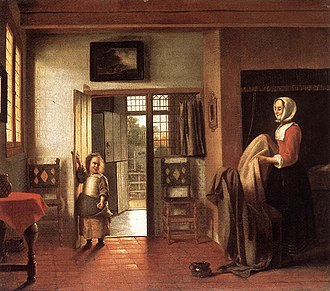 The Bedroom (Karlsruhe) - Image: Pieter de Hooch The Bedroom WGA11695