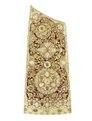 Pilkoger av läder, förgyllt silver, peridoter, små turkoser, rubiner och silverpärlor - Livrustkammaren - 91417.tif
