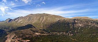Pindus mountain range