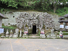 entrance to the elephant cave goa gajah