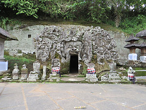 Goa Gajah - Entrance to the Elephant Cave 'Goa Gajah'