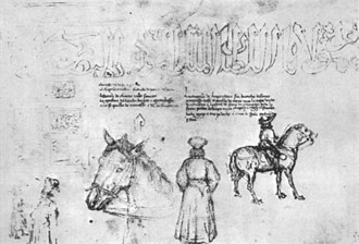 Medal of John VIII Palaeologus - Sketches of John VIII Palaeologus and members of his retinue (Louvre MI 1062)