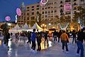 Pista de gel a la plaça de l'Ajuntament de València.JPG