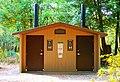 Pit toilet restrooms in the Alfred A. Loeb State Park day use area.jpg