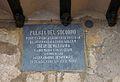 Placa a la porta del Socors del castell de Xàtiva.JPG