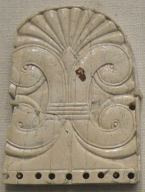Nimrud ivories - Plaque with plant motif