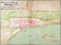 Plan de la ville de Montreal en Canada Nouvelle France, 4 octobre 1727.png