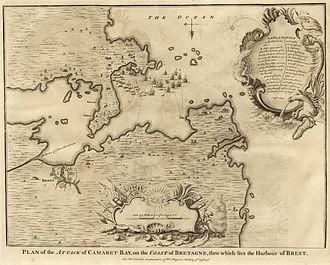 Battle of Camaret - English plan of the battle of Camaret