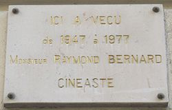 Plaque Raymond Bernard, 55 rue Pergolèse, Paris 16.jpg