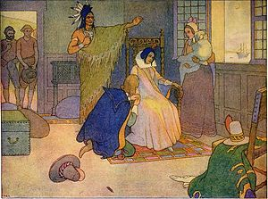 Tomocomo - Tomocomo represented with Pocahontas in 1906 by Elmer Boyd Smith
