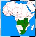 Poecilogale albinucha range map.png